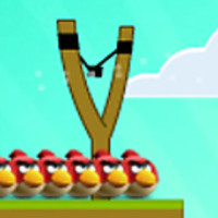 Angry birds fighting zombies