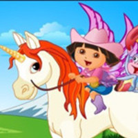 Baby Dora And Unicorn King