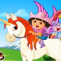Baby Dora On The Unicorn King