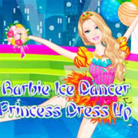 Barbie Ice Dancer Princess Dress Up