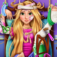 Blonde Princess Rapunzel Hospital Recovery