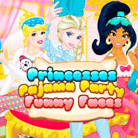 Princesses Pajama Party Funny Faces