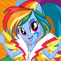 Rainbow Rocks Rainbow Dash Dress Up